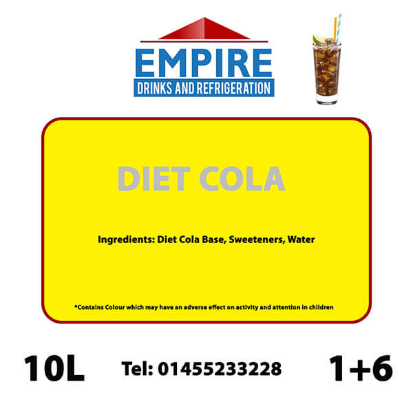 Empire Diet Cola 10 Litre Bag In Box Empire Drinks